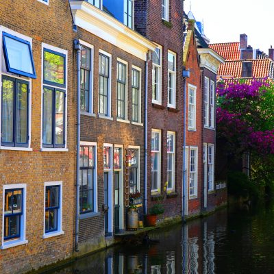 Traditional architecture in Delft, Netherlands